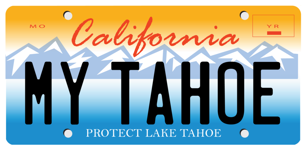 California My Tahoe license plate