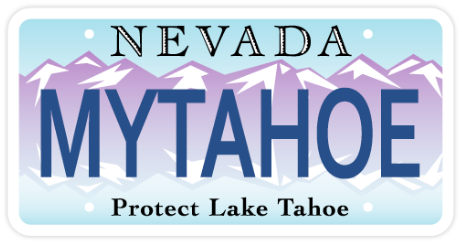 Nevada Tahoe license plate